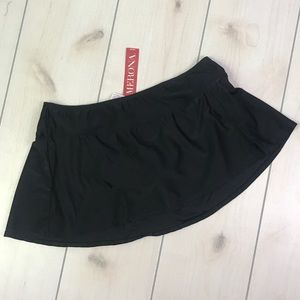 NWT Merona Black Swimsuit Skirt Bottom 16W/ 18W